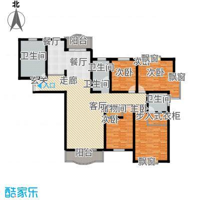 联洋新苑188.00㎡房型: 四房; 面积段: 188 -188 平方米; 户型