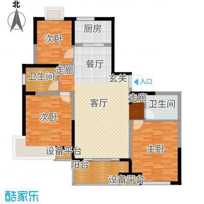虹瑞公寓南北通户型3室2卫1厨