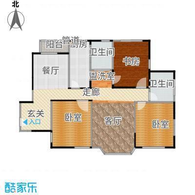 绿洲紫荆花园119.55㎡房型: 二房; 面积段: 119.55 -119.55 平方米; 户型