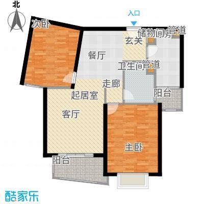 溧阳华府90.00㎡房型: 二房; 面积段: 90 -100 平方米; 户型