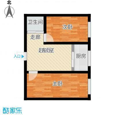 锦绣家园61.30㎡二室一厅一卫 61.3平米户型2室1厅1卫
