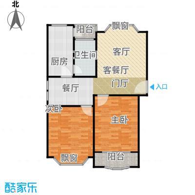 富仕名邸房型户型2室1厅1卫1厨