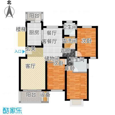 东兰兴城惠兰苑房型户型3室1厅2卫1厨
