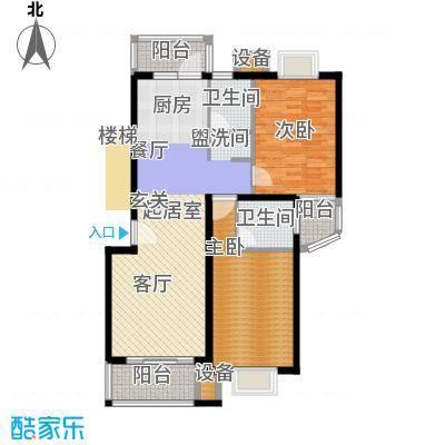 东兰兴城惠兰苑房型户型2室2卫