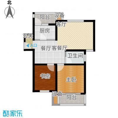 东兰兴城惠兰苑房型户型2室1厅1卫1厨