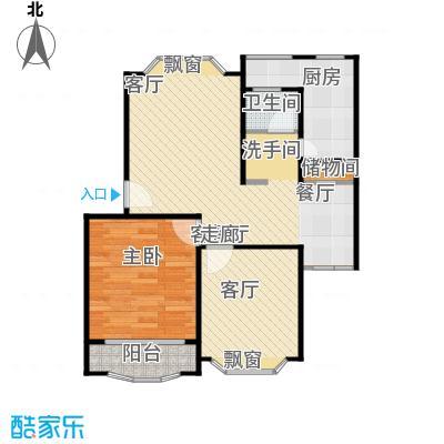 富仕名邸房型户型1室2厅1卫1厨