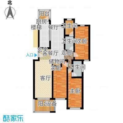 东兰兴城惠兰苑房型户型3室1厅3卫1厨