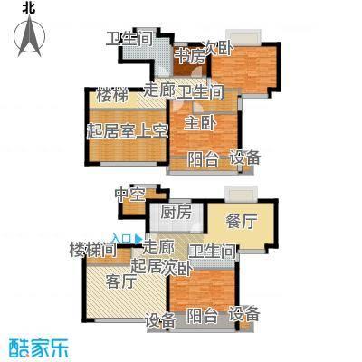 东兰兴城惠兰苑房型复式户型4室3卫1厨