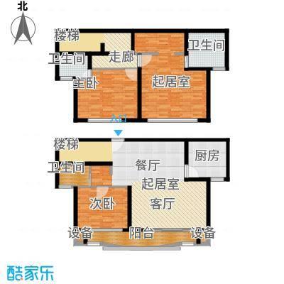 东兰兴城惠兰苑房型复式户型2室3卫1厨