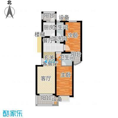 东兰兴城惠兰苑房型户型2室1厅2卫1厨