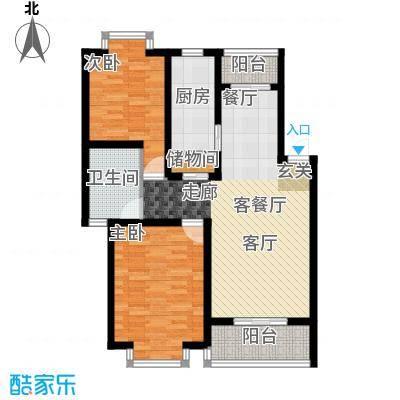 广海花园一、二期南北通户型2室1厅1卫1厨