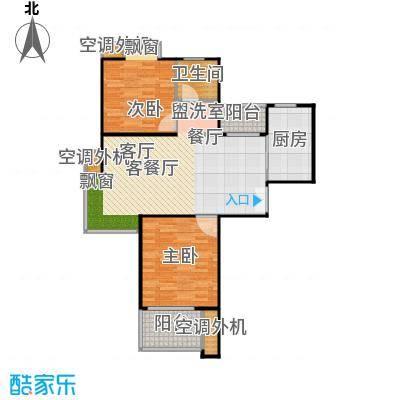 鹏欣一品漫城二期二房二厅一卫,面积约88平方米户型