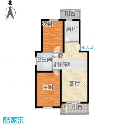 铭晖西郊苑二期90.73㎡房型: 二房; 面积段: 90.73 -91.45 平方米; 户型