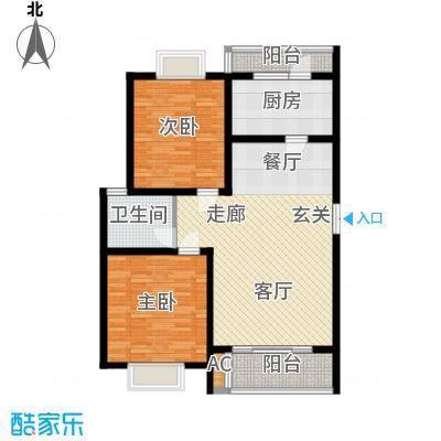 锦绣花木公寓100.00㎡房型: 二房; 面积段: 100 -110 平方米; 户型