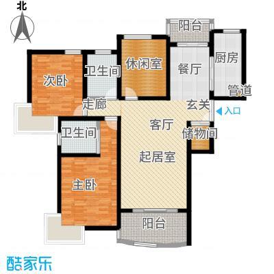 秋月枫舍二期103.00㎡房型: 三房; 面积段: 103 -134 平方米; 户型