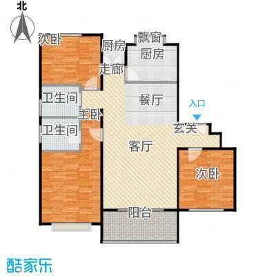 金阳怡景公寓125.00㎡房型: 三房; 面积段: 125 -148 平方米;户型