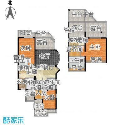 城市经典花园夏宫复式-255.86平方米户型