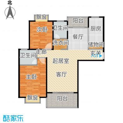金色西郊城94.00㎡房型: 二房; 面积段: 94 -104 平方米; 户型