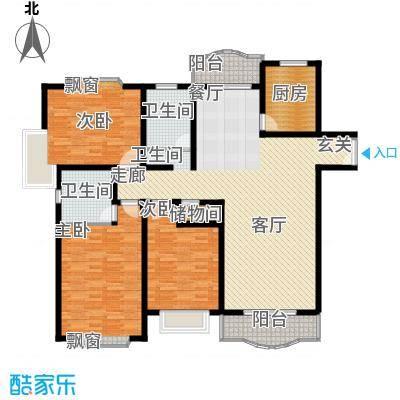 联洋新苑150.00㎡房型: 三房; 面积段: 150 -152 平方米; 户型