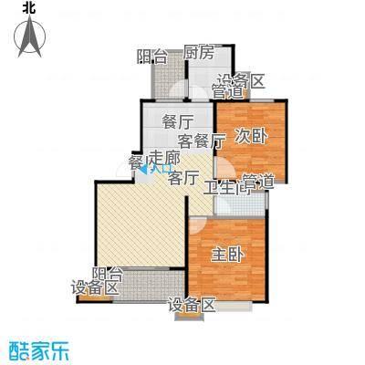 富顿街区14号舒适两房,面积:93平方左右户型