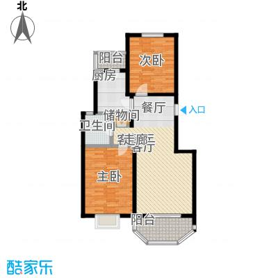 上泰绅苑90.00㎡二房二厅一卫-95.54平方米-62套户型
