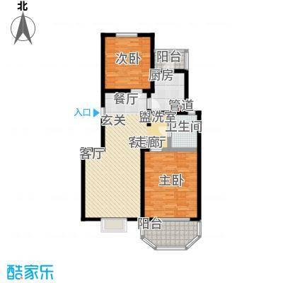 上泰绅苑90.00㎡二房二厅一卫-95.91平方米-62套户型