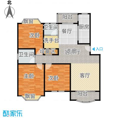 富仕名邸房型户型3室1厅2卫1厨