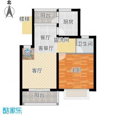 东兰兴城惠兰苑房型户型1室1厅1卫1厨