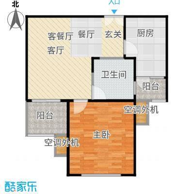 鹏欣一品漫城二期一房一厅一卫,面积约60平方米户型