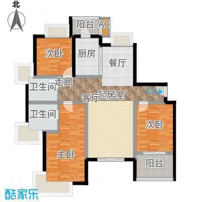 绿洲香岛花园(绿洲长岛花园五期)三房二厅二卫户型