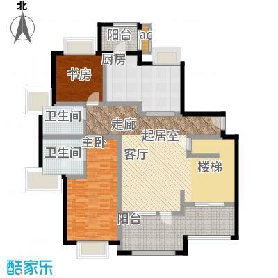 绿洲香岛花园(绿洲长岛花园五期)二房二厅一卫户型