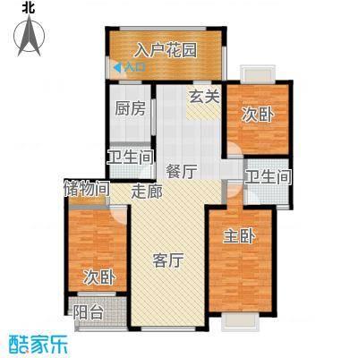 房型: 三房; 面积段: 110 -143 平方米;