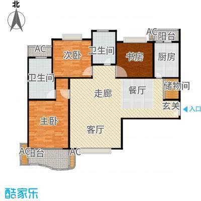 天际花园三期134.00㎡房型: 三房; 面积段: 134 -173 平方米; 户型