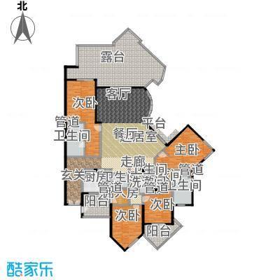 城市经典花园夏宫四房两厅四卫-282.9平方米户型