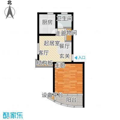 丰舍东苑49.12㎡房型: 一房; 面积段: 49.12 -63.92 平方米; 户型