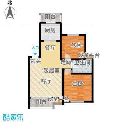 丰舍东苑71.13㎡房型: 二房; 面积段: 71.13 -88.13 平方米; 户型