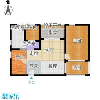 地杰国际城85.00㎡房型: 二房; 面积段: 85 -120 平方米;户型