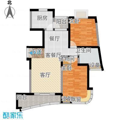 云山星座苑93.00㎡房型: 二房; 面积段: 93 -99 平方米; 户型