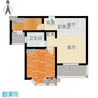 莘闵荣顺苑69.99㎡房型: 一房; 面积段: 69.99 -71.43 平方米; 户型