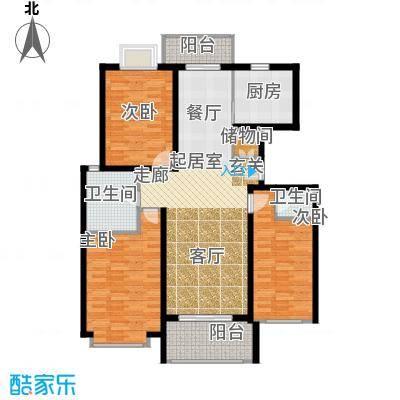 新空间家园114.20㎡三房_1户型