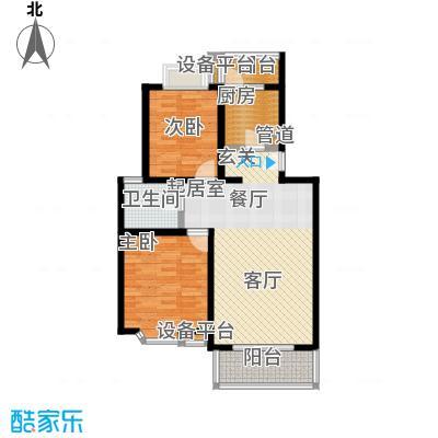 莘闵荣顺苑86.24㎡房型: 二房; 面积段: 86.24 -87.95 平方米; 户型