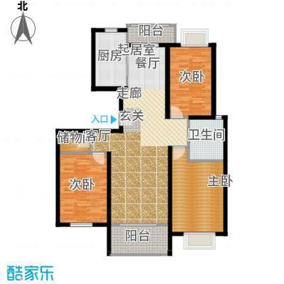 新空间家园114.20㎡三房_2户型