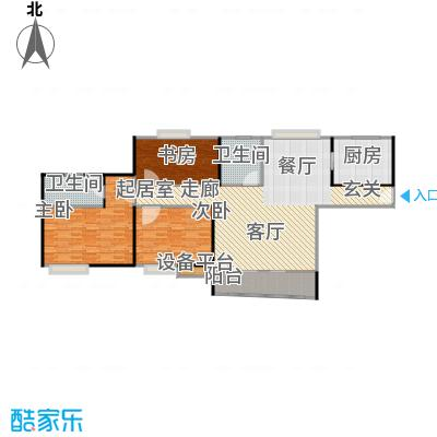 广洋华景苑132.00㎡房型: 三房; 面积段: 132 -138 平方米;户型