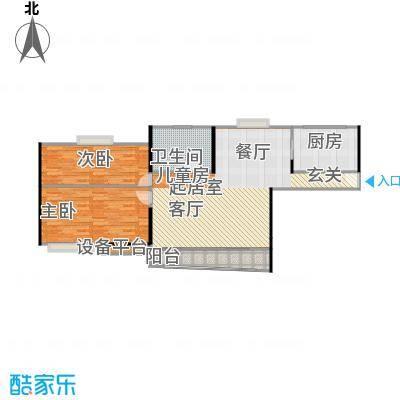 广洋华景苑99.00㎡房型: 二房; 面积段: 99 -108 平方米;户型