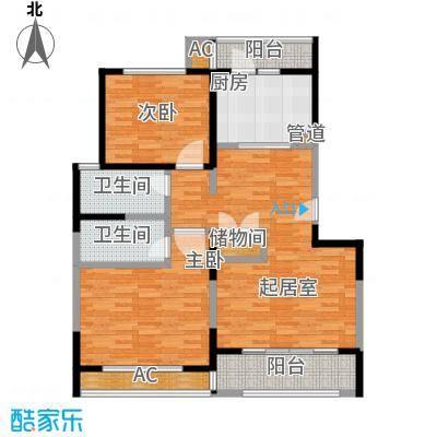 房型: 二房; 面积段: 105 -112 平方米;