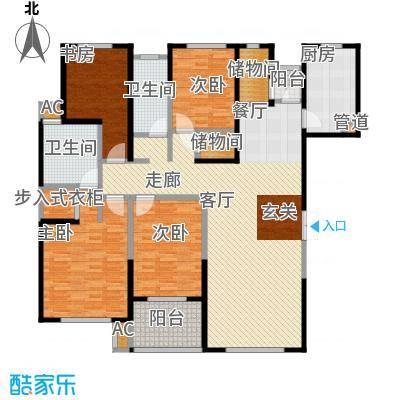房型: 四房; 面积段: 163 -181 平方米;
