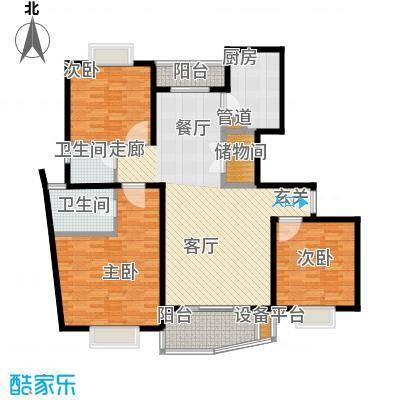 维多利华庭121.25㎡房型: 三房; 面积段: 121.25 -139.86 平方米; 户型