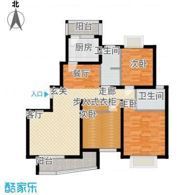 江南清漪园110.00㎡房型: 三房; 面积段: 110 -134 平方米; 户型