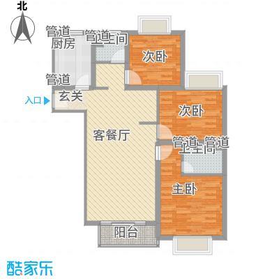 景宏嘉园115.00㎡房型: 三房; 面积段: 115 -135 平方米; 户型