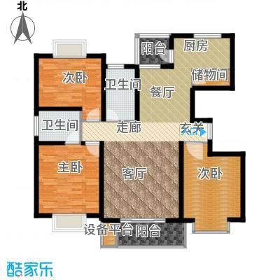 金桥新城二期119.86㎡房型: 三房; 面积段: 119.86 -135.86 平方米; 户型